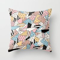 pizza Throw Pillows featuring PIZZA !! by Ana Depuntillas