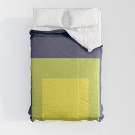 Block Colors - Yellow Green Violet Comforters