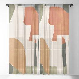 Abstract Art 42 Sheer Curtain