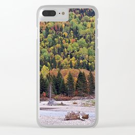 Riverbed in Autumn Clear iPhone Case