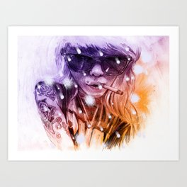 Snow Cig Art Print