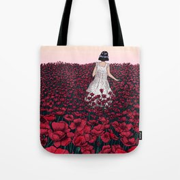 Field of Poppies | Colour Version Tote Bag
