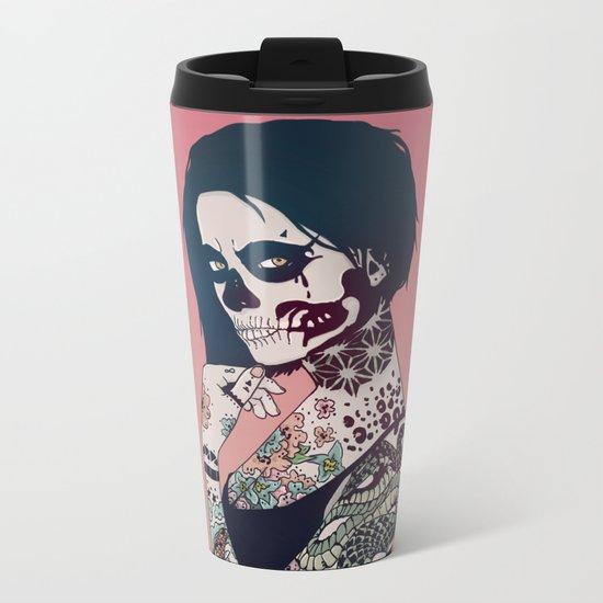 Snake Lady Metal Travel Mug