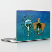 native american Laptop & iPad Skins featuring Of Sky Native American by BohemianBound