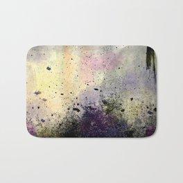 Abstract Mixed Media Design Bath Mat