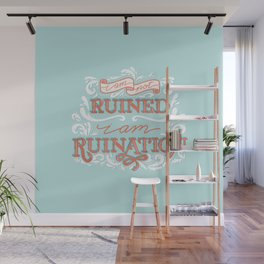 Grishaverse Quote Ruination Blue Orange Wall Mural