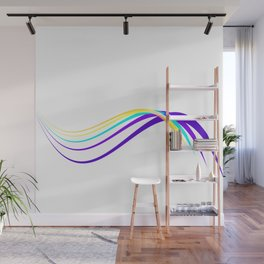 Flow minimal - blue Wall Mural