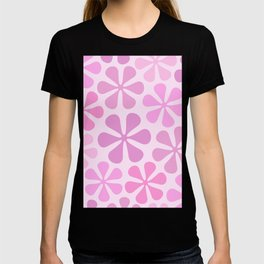 Abstract Flowers in Pinks T-shirt