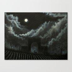 Moonlit Folly Canvas Print