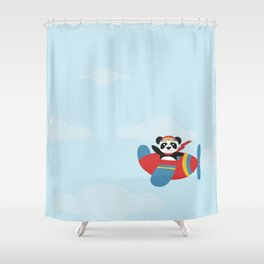 Panda says Thanks! Shower Curtain