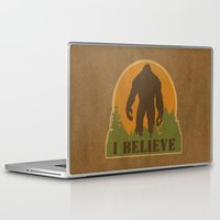 bigfoot Laptop & iPad Skins featuring Bigfoot - I believe by Heather Green