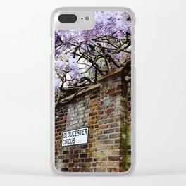 Wisteria, Gloucester Circus Clear iPhone Case