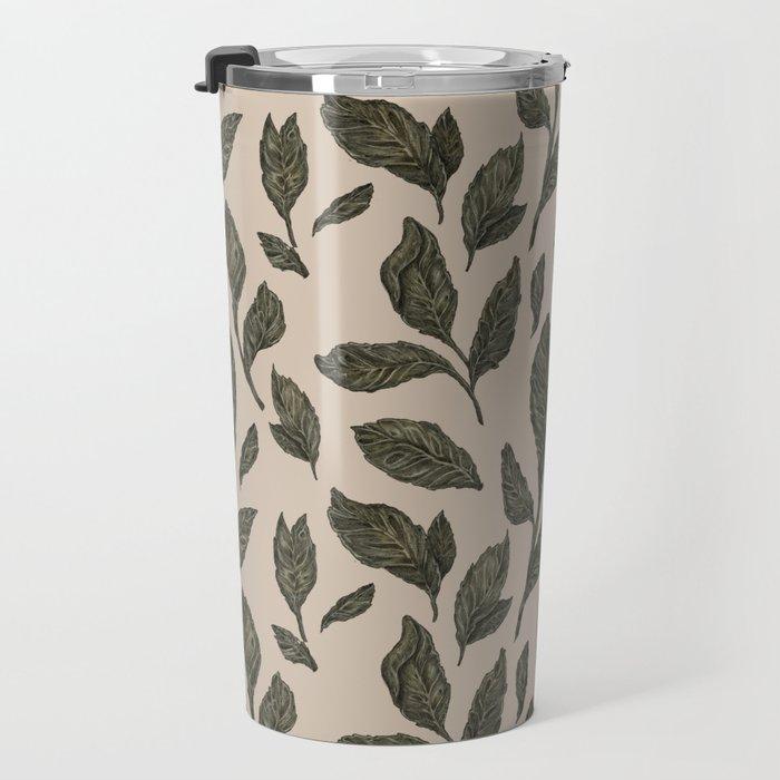 Leaf Pattern Travel Mug