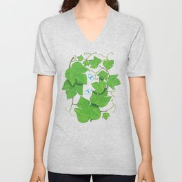 Grape Leaves Unisex V-Neck