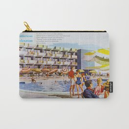 1950's Retro Hotel Wildwood Rendering,  Wildwood, New Jersey Carry-All Pouch