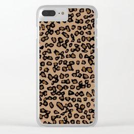 Digital Leopard Clear iPhone Case