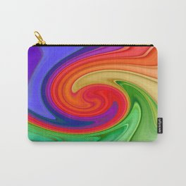Raspberry Ripple In Green, Ochre , Purple and Blue Rainbow Carry-All Pouch