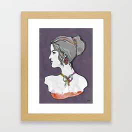 Around My Neck Framed Art Print
