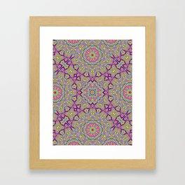 Acid Symmetry Framed Art Print