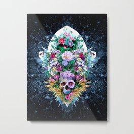 Skull Vivid VI Metal Print