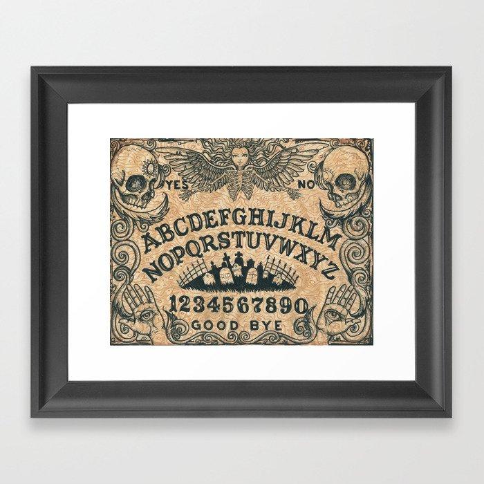 Ouija Board Gerahmter Kunstdruck