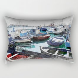 Trapani art 5 Rectangular Pillow