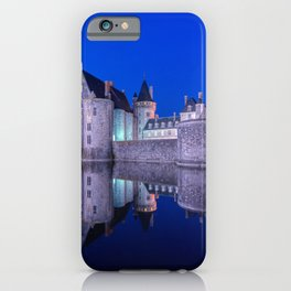 Sully sur Loire at night, Loire valley, France. iPhone Case