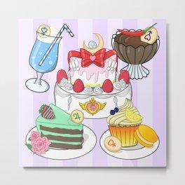 Inner Senshi Sweets Metal Print