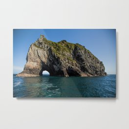 Hole in the Rock New Zealand Metal Print