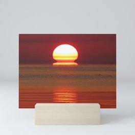 Liquid sunrise Mini Art Print