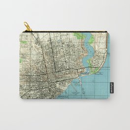 Vintage Map of Pensacola Florida (1944) Carry-All Pouch