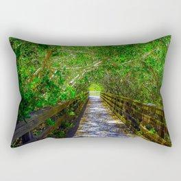 Path under the Tree Canopy Rectangular Pillow