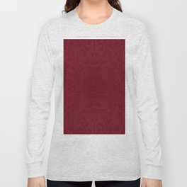 Dark red leather texture abstract Long Sleeve T-shirt