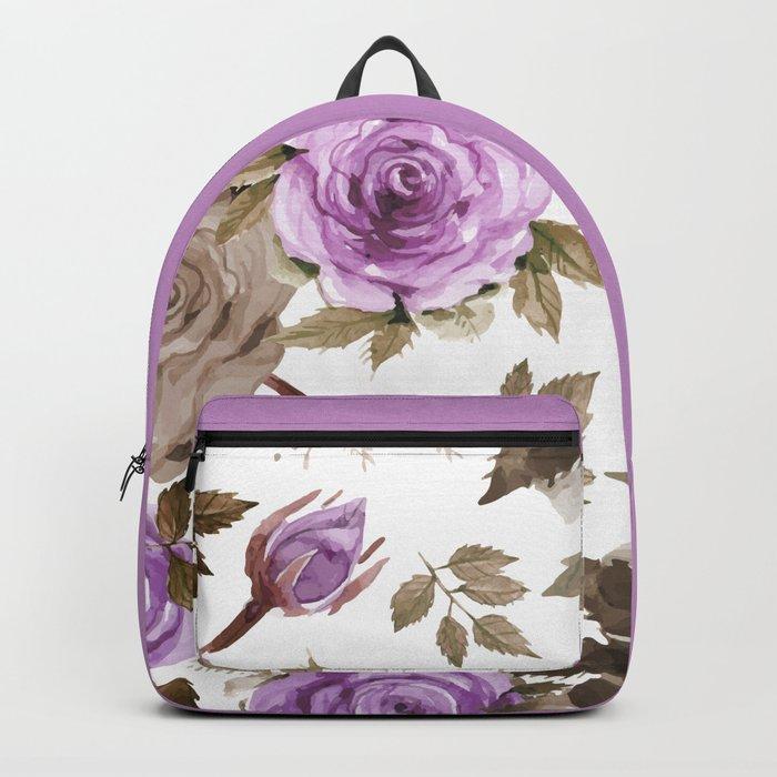 FLOWERS WATERCOLOR 9 Backpack