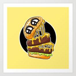 Fast Food FRENZY - Cheezy Jack Art Print