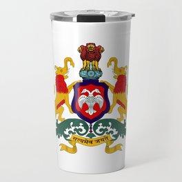 Seal of Karnataka Travel Mug