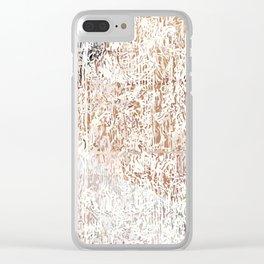 Skin Pattern Clear iPhone Case