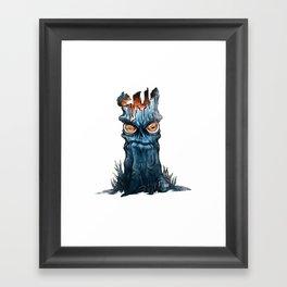 A Grumpy Tree and His Friend Framed Art Print