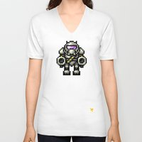 trooper V-neck T-shirts featuring Trooper by HOVERFLYdesign