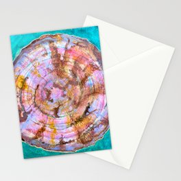 Abstract Watercolor Petrified Wood Painting Stationery Cards
