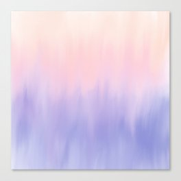 Modern pastel lilac lavender pink watercolor brushstrokes ombre Canvas Print