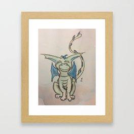 Happy Green Framed Art Print