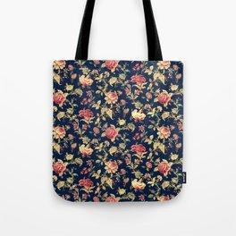 Shabby Floral Print Tote Bag
