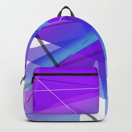 Electric Violet Geometric Abstract Art Backpack