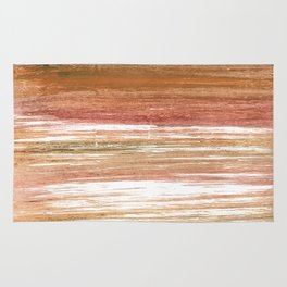 Coconut abstract watercolor Rug