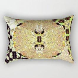 Golden coins abstract Rectangular Pillow