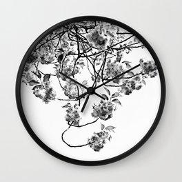 Under The Flowering Tree Wall Clock