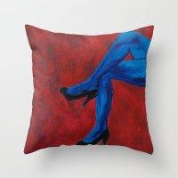 legs Throw Pillows featuring Legs by Sian Blackman
