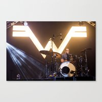 weezer Canvas Prints featuring Weezer by Adam Pulicicchio Photography