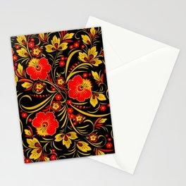Russian khokhloma Stationery Cards